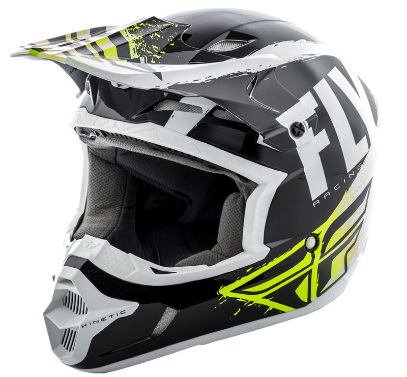 Fly Racing Kinetic Burnish Helmet White HiVis
