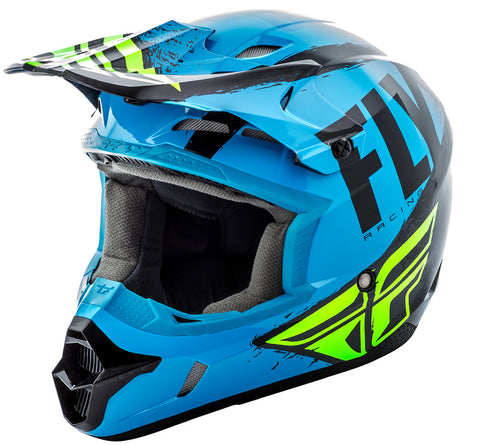 Fly Racing Kinetic Burnish Helmet Blue HiVis