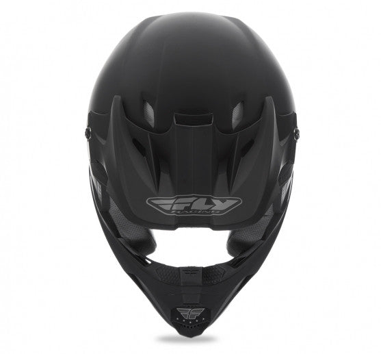 Fly Racing Kinetic Solid Helmet Matte Black - 3