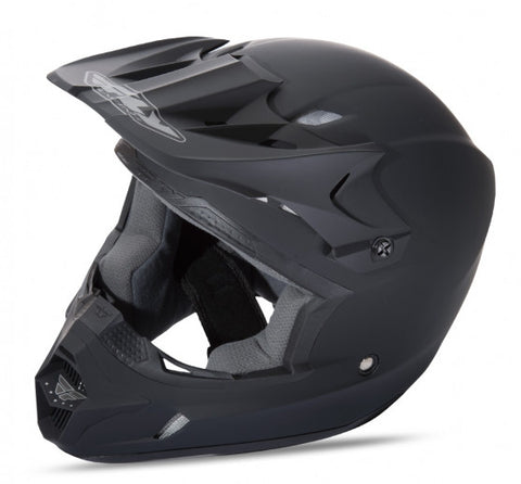 Fly Racing Kinetic Solid Helmet Matte Black - 1