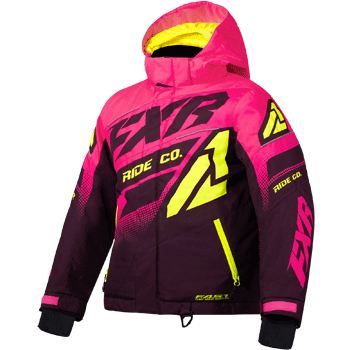 FXR Boost Kids Jacket Pink/Plum/HiVis