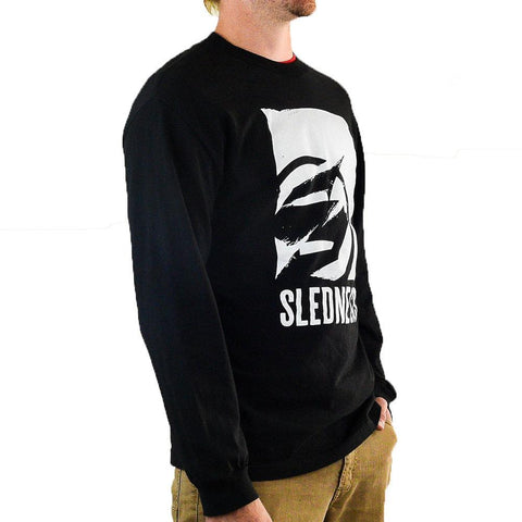 Slednecks Ragged Tooth Long Sleeve T Shirt Black