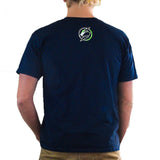 Slednecks Right Angle Tee Shirt Navy