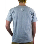 Slednecks Right Angle Tee Shirt Heather Grey