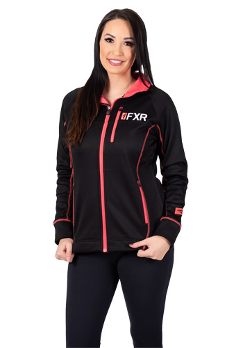 FXR Elevation Tech Zip Fleece Black/Coral