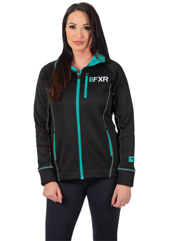 FXR Elevation Tech Zip Fleece Black/Mint