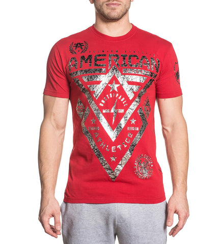 American Fighter Alaska Tee Red