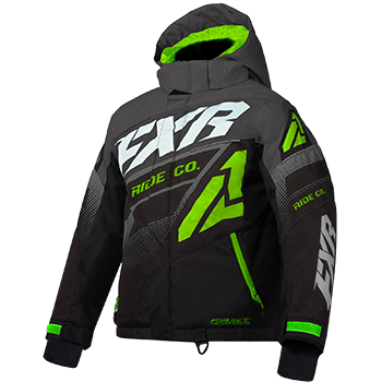 FXR Boost Kids Jacket Black/Char/Lime
