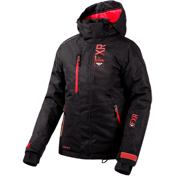 FXR Fresh Womens Jacket Black Linen Coral
