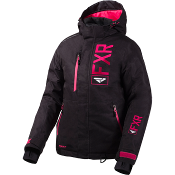 FXR Fresh Womens Jacket 2020 Black Linen/Fuchsia