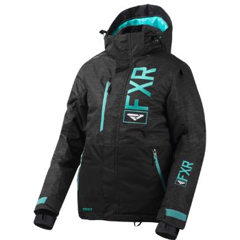 FXR Fresh Womens Jacket 2020 Charcoal/Mint