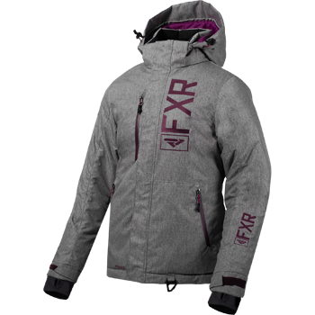 FXR Fresh Womens Jacket 2020 Grey Linen/Plum