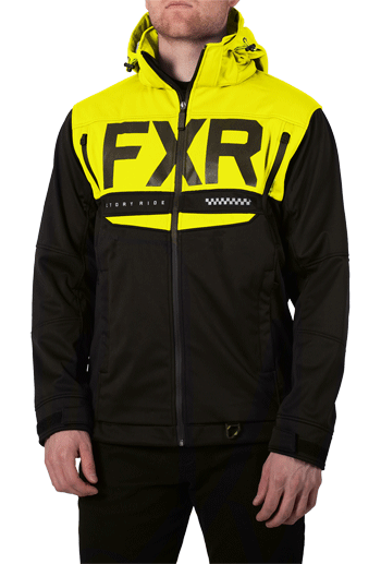 FXR Helium Ride Softshell Black/HiVis