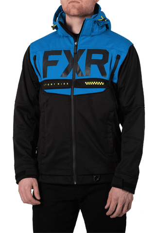 FXR Helium Ride Softshell Black/Blue