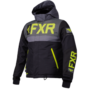 FXR Helium Kids Jacket Black/Char/Grey