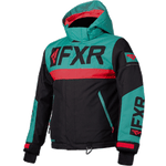 FXR Helium Kids Jacket Black/Mint/Coral