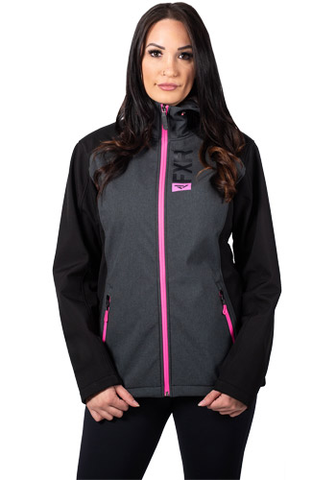FXR Pulse Softshell Charcoal/Pink