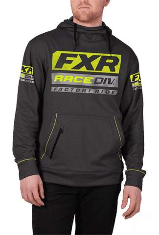FXR Race Division Tech Pullover Fleece Charcoal/Hi-Vis