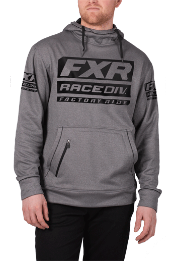 FXR Race Division Tech Pullover Fleece Grey/Black