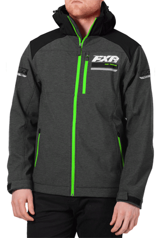 FXR Renegade Softshell Charcoal/Lime