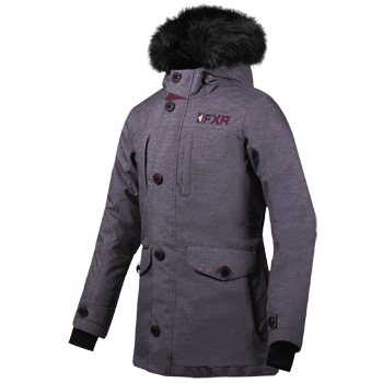 FXR Svalbard Parka Grey Heather/Plum