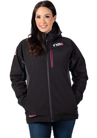 FXR Vertical Pro Insulated Softshell Black/Pink