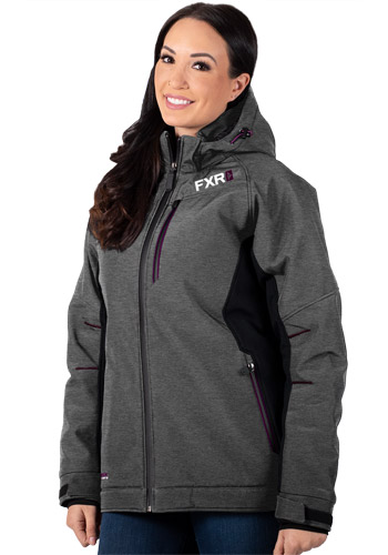 FXR Vertical Pro Insulated Softshell Grey/Plum