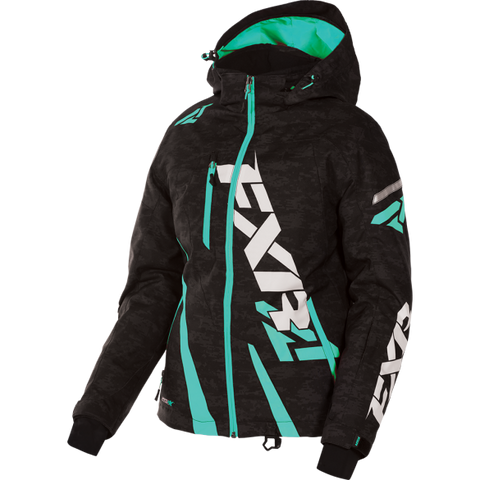 FXR Boost Womens Jacket Black/Digi/Mint