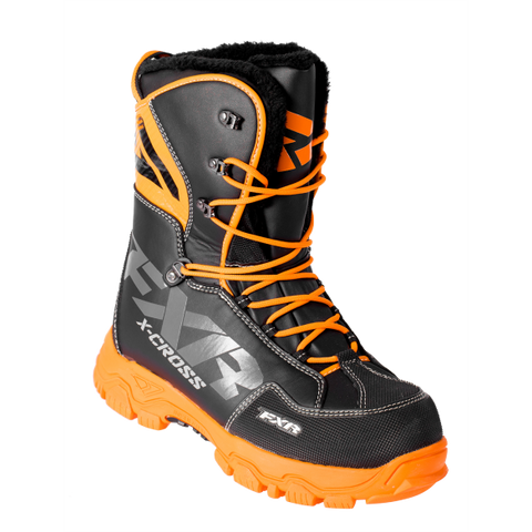 FXR X Cross Snowmobile Boot Black/Orange