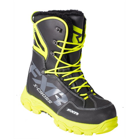 FXR X Cross Snowmobile Boot Black/HiVis