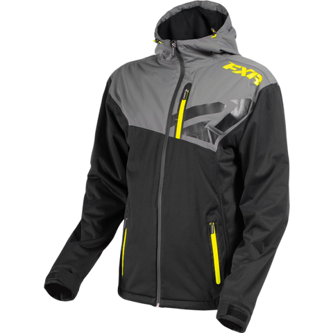 FXR Clutch Dual Laminate Jacket Charcoal HiVis