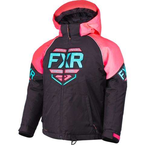FXR Clutch Youth Jacket 19 Coral Mint
