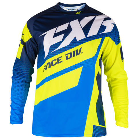 FXR Clutch Podium MX 19 Jersey Navy HiVis