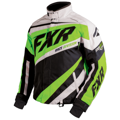 FXR Cold Cross Mens Jacket Black/Elec Lime