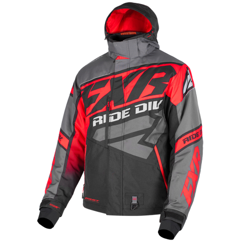 FXR CX 19 Mens Jacket Black Lava Red