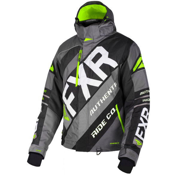 FXR CX 19 Mens Jacket Char Lime