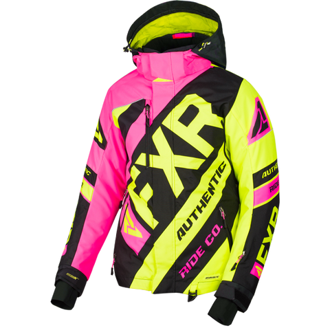 FXR CX Womens 2019 Jacket ElecPink HiVis