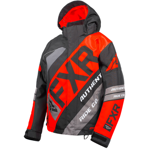 FXR CX Youth Jacket 19 Black Red