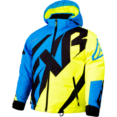 FXR CX Youth Jacket Blue/HiVis/Black