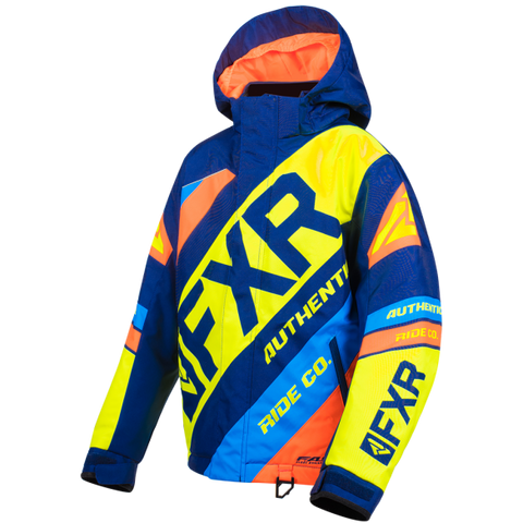 FXR CX Youth Jacket 19 Navy HiVis