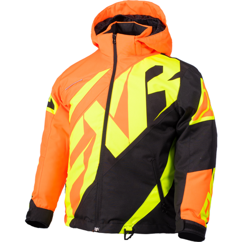 FXR CX Youth Jacket Orange/Black/HiVis