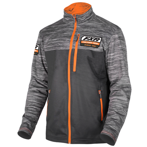 FXR Elevation Tech Zip 2019 Charcoal Orange