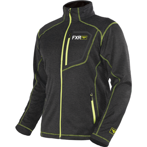 FXR Elevation Tech Zip Fleece Char/Hi Vis