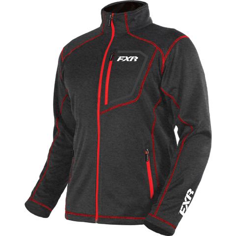 FXR Elevation Tech Zip Fleece Charcoal/Red