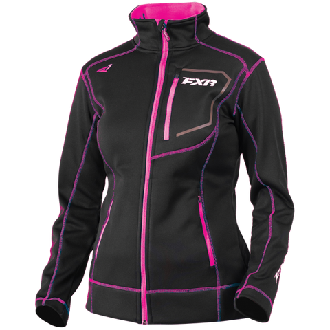 FXR Elevation Womens Zip Fleece Black/Fuchsia