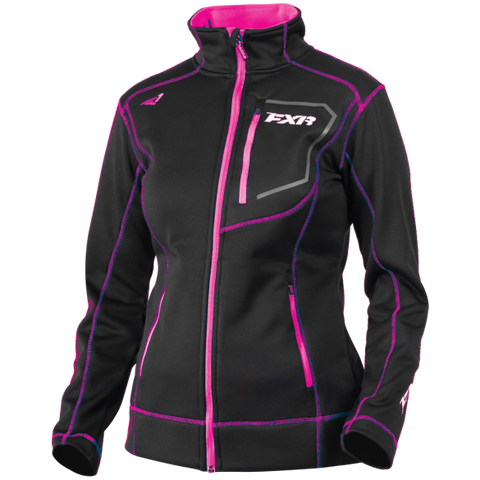 FXR Elevation Womens Zip Fleece CharcoalHeather/Berry