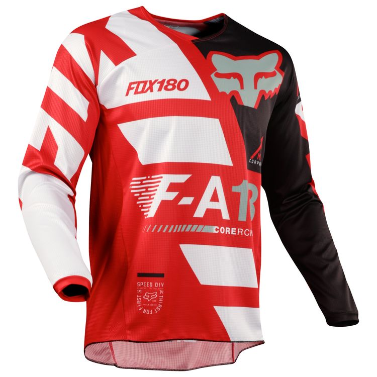 Fox Racing 180 Youth Sayak Jersey 2018 Red – Bristow s Online ab654dbe2