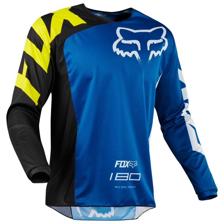 e8b4c98a5d7 Fox Racing 180 Youth Race Jersey 2018 Blue – Bristow's Online