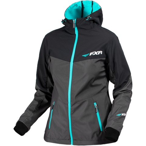 FXR Fresh Womens Softshell Char/Black/Aqua