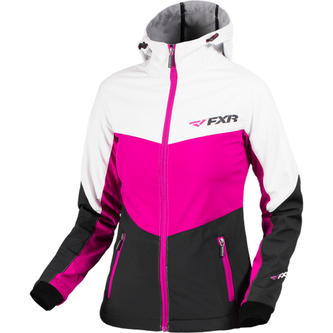 FXR Fresh Womens Softshell Wineberry/Blk/White